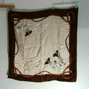 Vtg Polo Ralph Lauren Scarf Jack Russell dog Italy